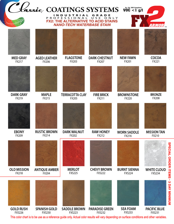General Color Chart Template Sample General Color Chart